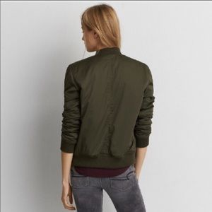 American Eagle Olive Green Bomber